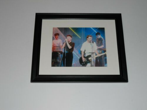 "Framed New Order 1983 on Stage Poster Print 14"" by 17"" Joy Division"
