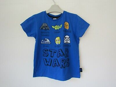 STAR WARS Yoda Darth Vader Chewie Boys T-shirt Top age 5-6