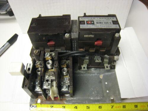 Cutler Hammer A50BNO Size 0 Reversing Motor Starter with 120 Volt Coils