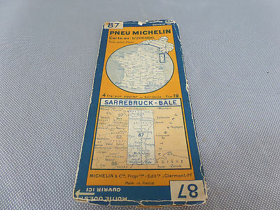 Card Michelin N°87 Saarbrücken-basel 1929/Collector Bibendum Vintage