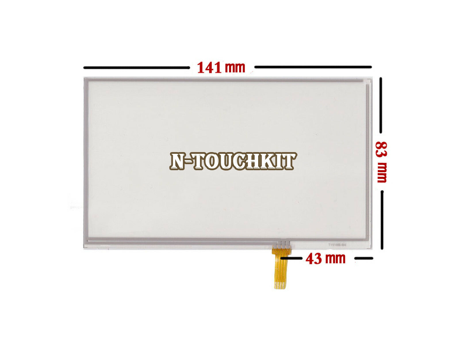"6 Inch 4 Wire Touch Screen Digitizer 141x83mm for 6"" TFT TM060RBZ02 LCD Screen"