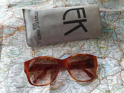 Vintage Emmanuelle Khahn Paris 14670 17 Sport Optique Brown Sunglasses