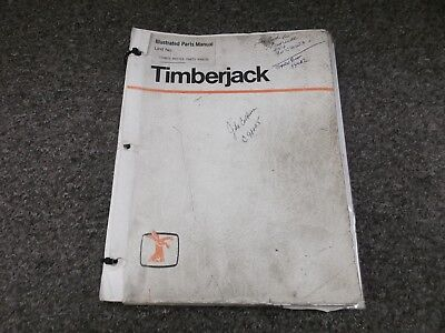 Timberjack Timbco Master T25 Skidder Feller Buncher Parts Catalog Manual