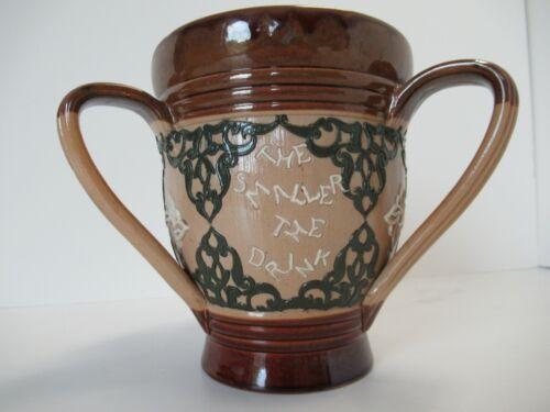 Doulton Lambeth 3-handled drinking mug