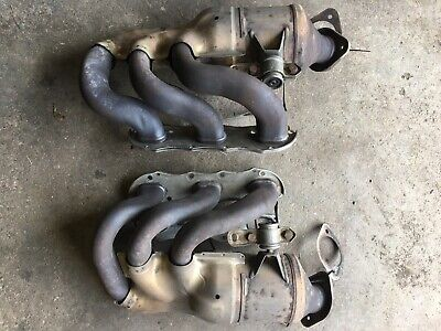 Porsche 981S Catalytic Converter (left and right) Exhaust Manifold Headers
