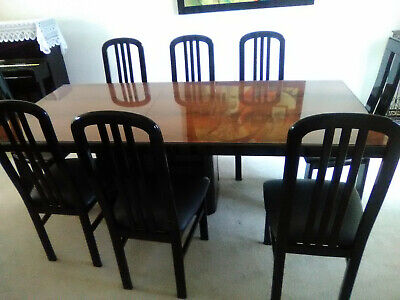Fabulous Italian Made Modern Dining Room Table And 8 Chairs