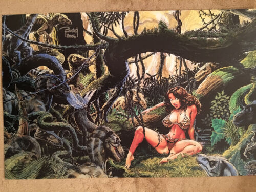 """CAVEWOMAN in Trouble Print (11""""x17"""") - [Signed by artist Budd Root]"""