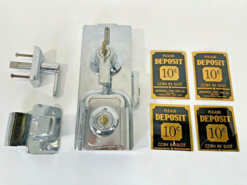Old Vintage Coin Op Pay Toilet Lock Mechanism & 4 Signs White Castle? Vending