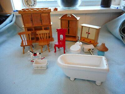Job Lot Vintage Dolls House Furniture Various
