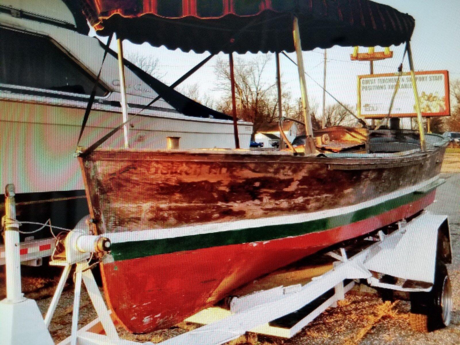 Vintage Wooden Louisiana Skiff Boat