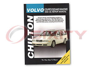 Volvo 960 Chilton Repair Manual Base Shop Service Garage Book og