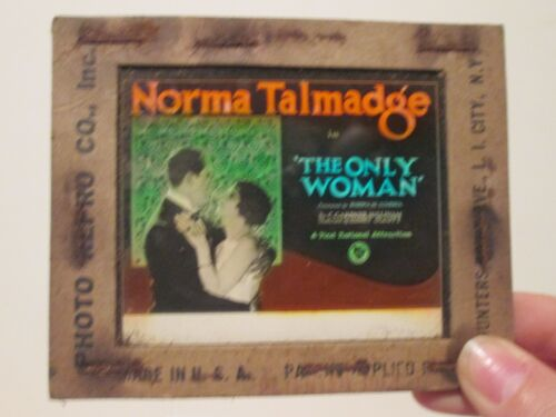 The Only Woman   - Original 1924  Movie Glass Slide - Norma Talmadge
