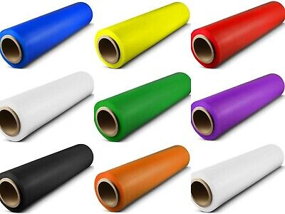 18x 1500 Ft Pallet Stretch Shrink Wrap Parcel Packing Cling Film All Colours