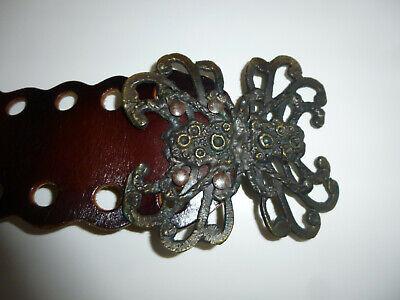 Gürtel Spinne breit 1970 Vintage 90 cm Gürtel Spinner
