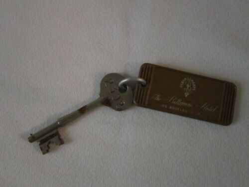 Room key and fob from Biltmore Hotel Los Angeles 1965