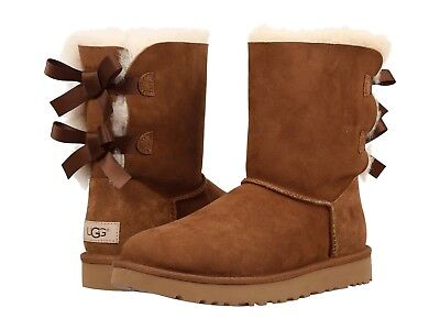 - NEW WOMEN BOOT UGG 2019 BAILEY BOW II CHESTNUT FREE SHIPPING 1016225