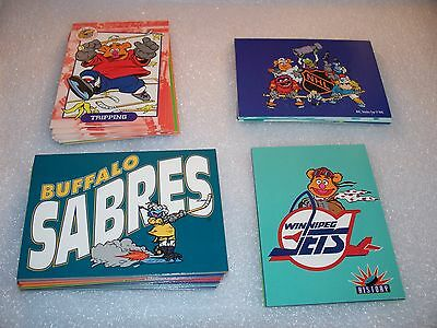 MUPPETS Take The ICE - NHL -   Complete Trading Card Set - Jim Henson's  Kermit - Ice Trading