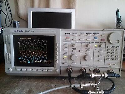 Tektronix 4 Channel Tds754a 500mhz 2gsas Oscilloscope Options 13 1f 1m 2f