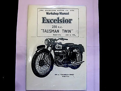 OWNERS INSTRUCTION MANUAL FOR EXCELSIOR 250cc TALISMAN TWIN 50-54