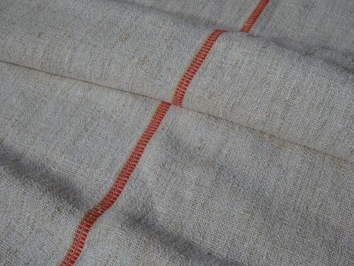 Antique European Feed Sack GRAIN SACK Red and Yellow Stripes # 9957