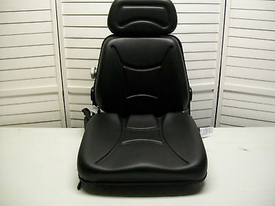 NEW BLACK SEAT FOR EXCAVATOR,FORKLIFT,SKID LOADER,BACKHOE,DOZER,TELEHANDLER #KM