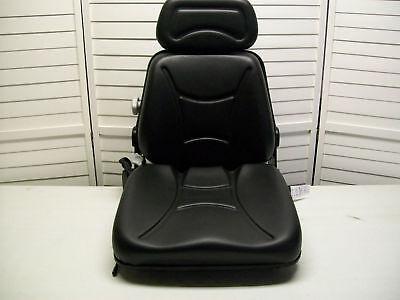 New Black Seat For Excavatorforkliftskid Loaderbackhoedozertelehandler Km