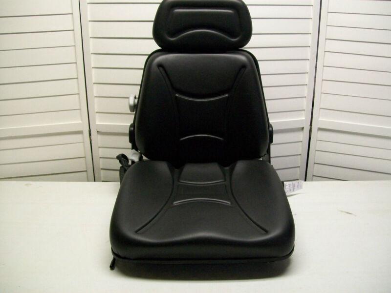 NEW BLACK SEAT FOR EXCAVATOR,FORKLIFT,SKID LOADER,BACKHOE,DOZER,TELEHANDLER #KM