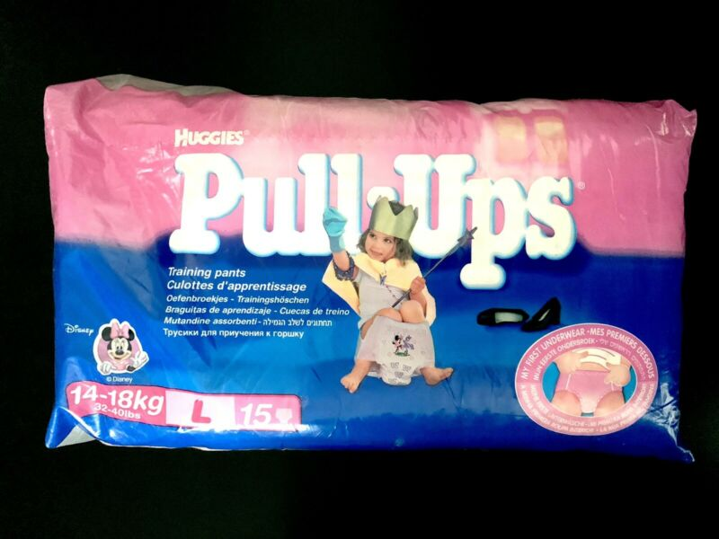 SUPER RARE SEALED Vintage 2002 Huggies Pull Ups Minnie Mouse Girls 3T-4T - 15 CT