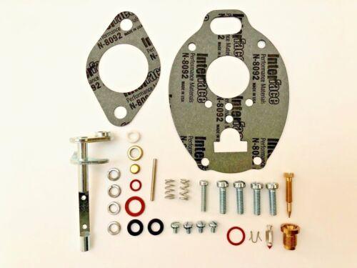 John Deere 420 430 Carburetor Repair Kit w/ Throttle Shaft