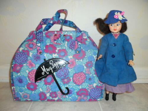 Vtg 1964 MARY POPPINS Walt Disney Floral Print CARPET BAG PURSE Horsman + Doll