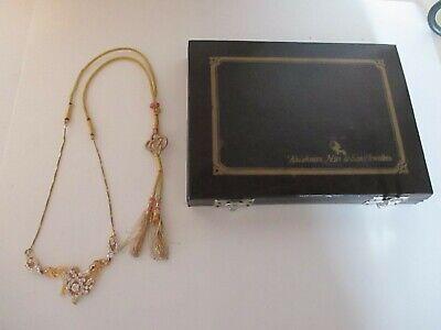 Impresionante Kushnan Nair & Hijo Joyería Oro Collar Pedrería 22120