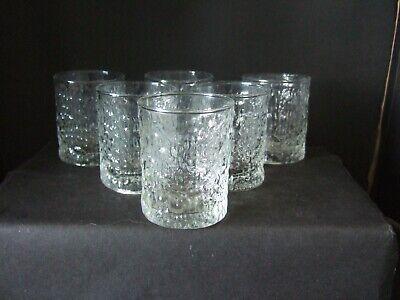 Vintage  6 x 1970's Retro Ravenhead Siesta Small Spirit Whisky Tumblers Glasses