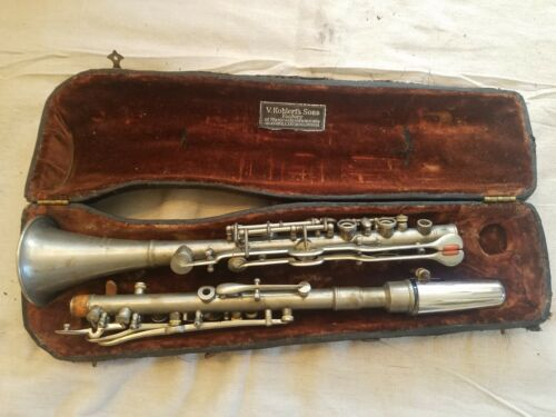 Vintage Civil War ?? V. Kohlert Sons Metal Oboe Clarinet Musical Instrument