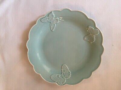 Blue Butterfly Dinner Plate (Lenox Butterfly Meadow Carved Blue 11
