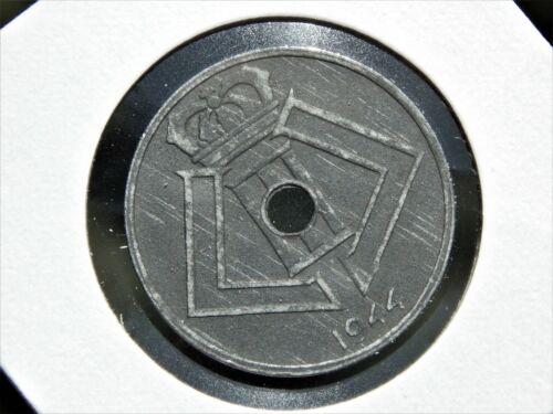 Belgium 1944 25 Centimes Beautiful Uncirculated WWII German Occupied Zinc Coin