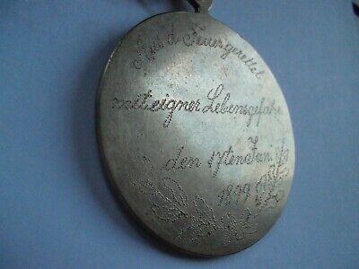 ille für Lebensrettung aus 1899 (Personalisierte Medaillen)
