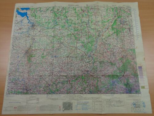 WW2 (1943) OPERATION MARKET GARDEN Area Map (Features EINDHOVEN) Army / RAF