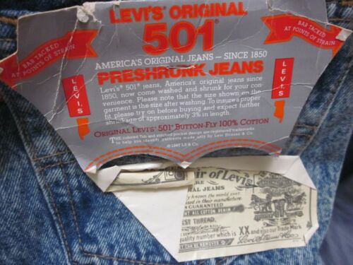 DEADSTOCK LEVIS 501 USA  W34 L34  MADE IN USA NOS deadstock