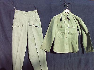 Original WW2 Women's Army Corps, WAC, HBT Shirt and trousers.
