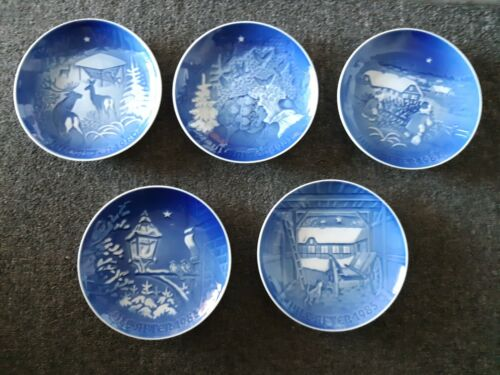 5 Lot 1980, 1981, 1982, 1983 and 1985 Jule After Bing Grondahl Christmas Plates