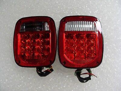 -  LED Tail Lights Truck Trailer Jeep Dump Truck Right / Left Side License Light