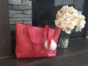 Red coach bag( good condition)