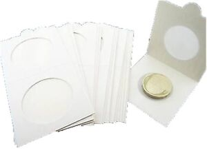 Lighthouse-Self-Adhesive-Coin-Holders-2X2-Flips-Quantity-10-25-50-100-All-Sizes