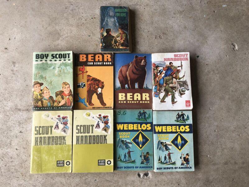 Lot Boy Scout Handbooks 1950's, 1960's And 1970's. - Nine (9) Handbooks/Manuals.