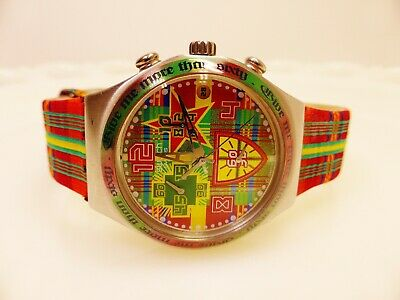 "Swatch IRONY ""Give me more than sixty"" 2003 Swiss model YCS505 REDUCED $100"