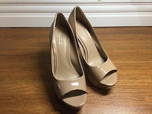 Coffee Coloured Patent Leather High heels
