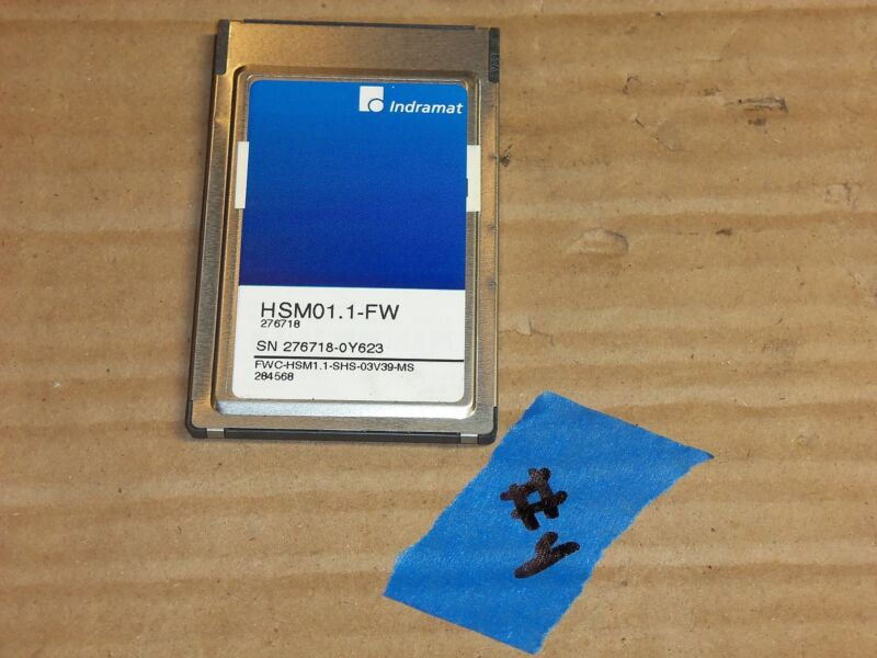 INDRAMAT HSM01.1-FW POWER SUPPLY MEMORY CARD SOFTWARE #4-12