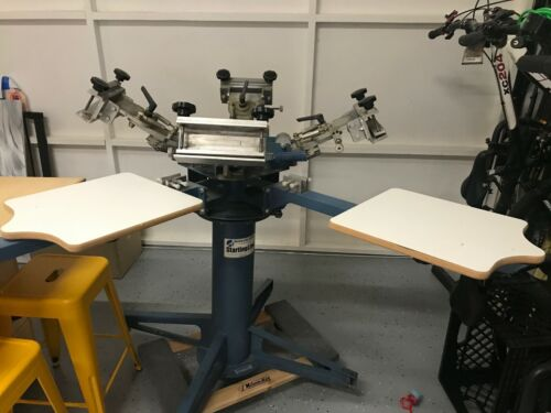 Riley Hopkins 4/4 manual screen printing press