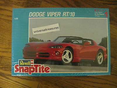 Revell Dodge Viper RT/10 snaptite model car kit 1/25 skill 1 #6260 sealed mint