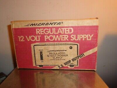 Micranta Regulated 12 Volt Power Supply Cat No 22-124